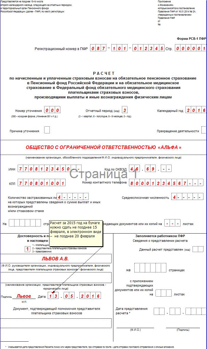 Пошаговая инструкция заполнения рсв-1 пфр