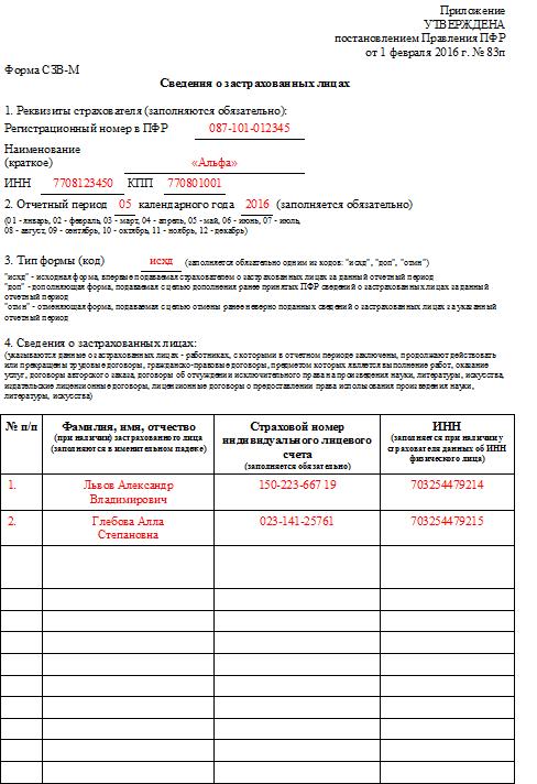 Форма СЗВ-М в 2016 году: скачать бланк бесплатно