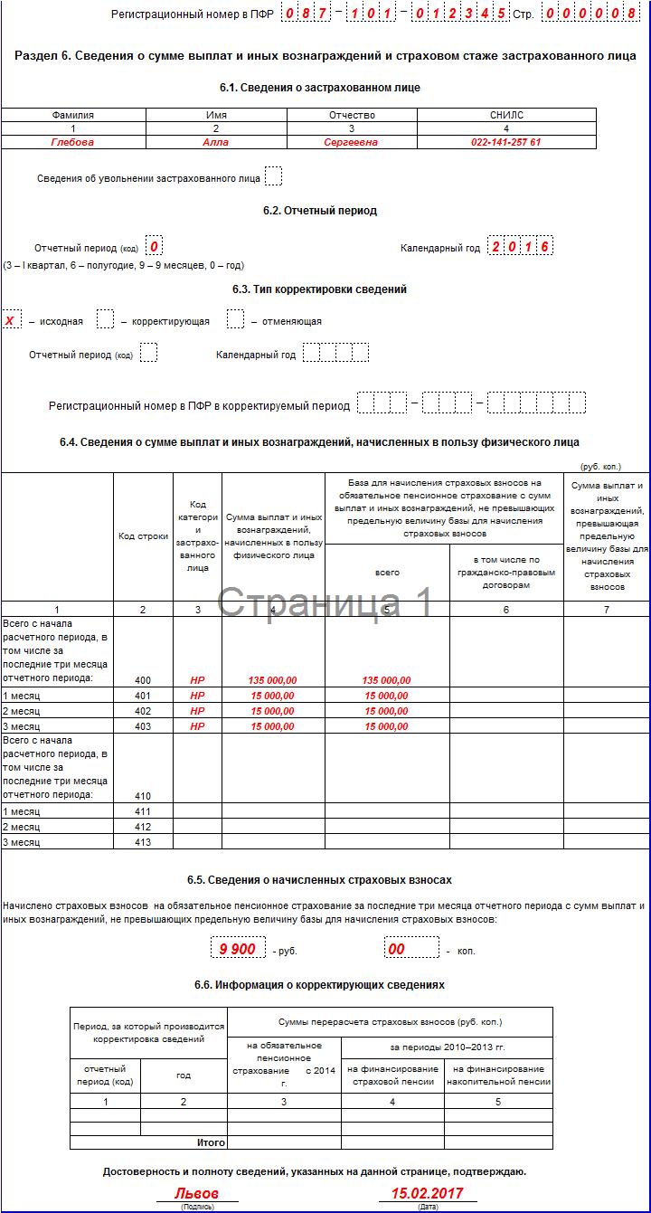 Новая форма отчетности в ПФР за 4 квартал 2016 года