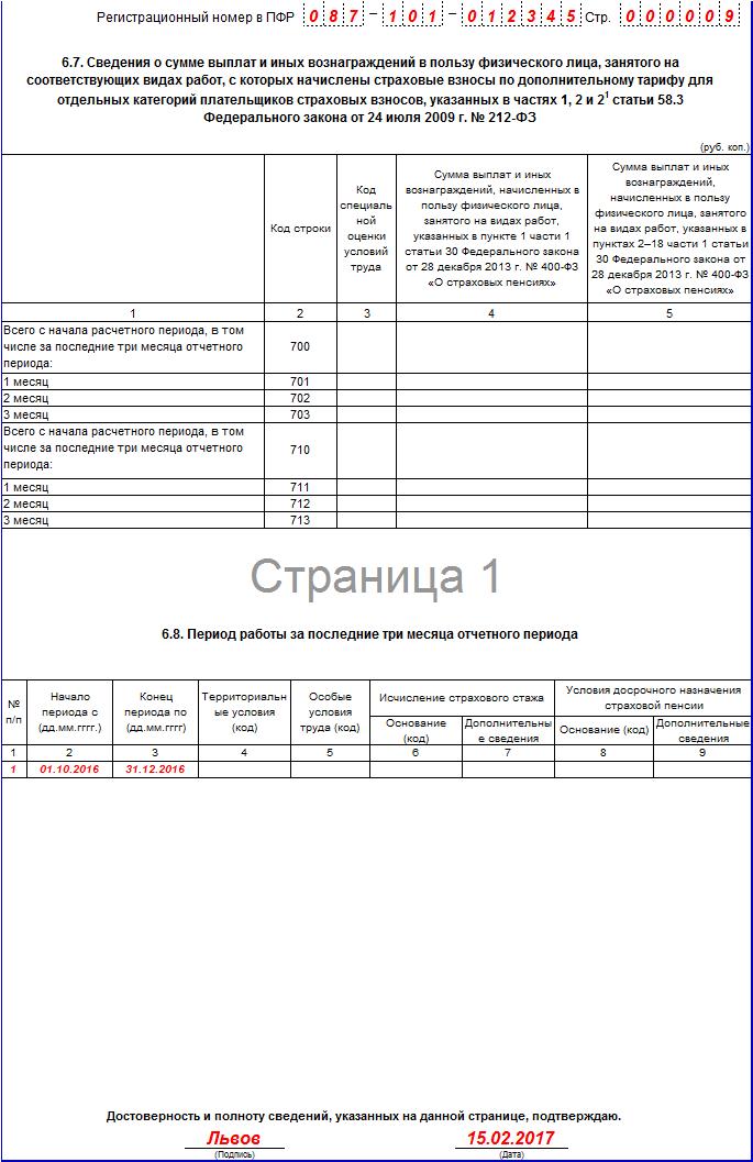 Ежемесячная отчетность в пфр 2017 год новая форма