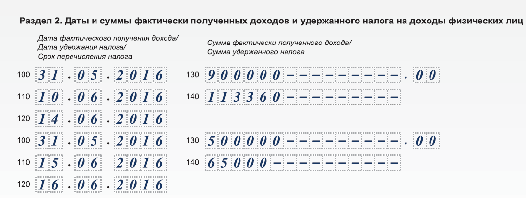 Инструкция по заполнению 6-НДФЛ за 2 квартал 2016 года