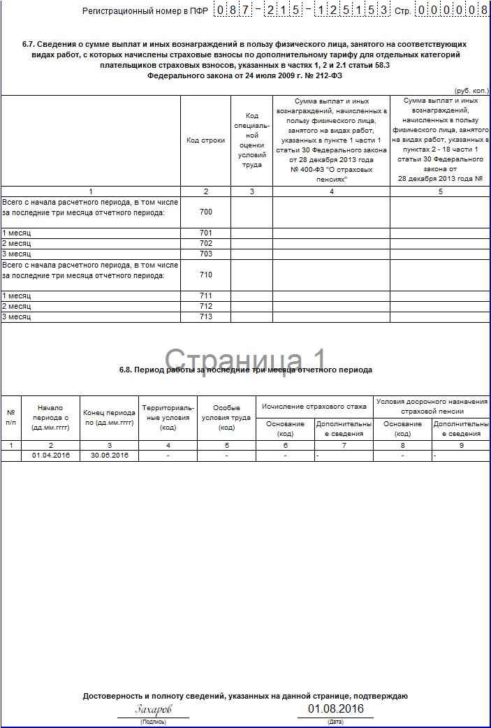 Рсв-1 за 1 Квартал 2015 бланк