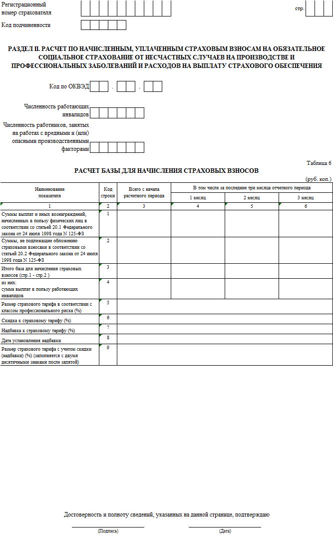 Заполнение формы 4-ФСС за 2 квартал 2016 года