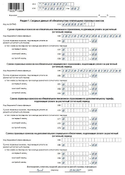 2017 отчетность нулевая пфр в заполнению – инструкция по